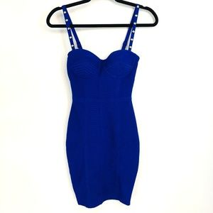 Guess Bodycon Ribbed Gold Detail